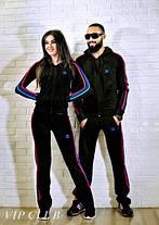 Мужской спортивный костюм adidas с цветными полосками по бокам, фото 2