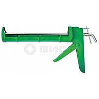 Пістолет для герметика напіввідкритий металевий, зубчатий стрижень 12-003 Favorit // Пистолет для герметика