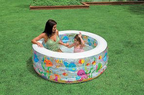 """Детский надувной бассейн Intex, 58480 """"Аквариум"""" (152х56см) с надувным дном, фото 2"""