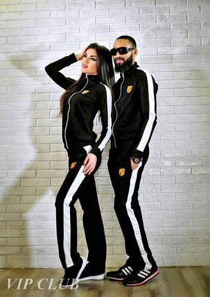 Мужской спортивный костюм с белой боковой полоской , фото 2
