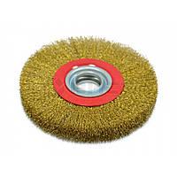Щітка-крацовка стовщена дискова 200х32мм ширина ~25мм 18-075 Spitce // Щетка крацовка дисковая