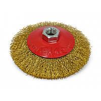 Щітка-крацовка кругова латунна 115 мм 18-103 Spitce // Щетка-крацовка коническая, латунная