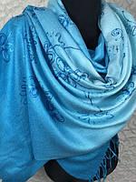 Палантины с переходом цвета в пайетках Пашмина 160х70 см
