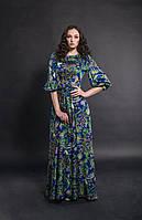 Платье в пол Джордан цветочный принт электрик