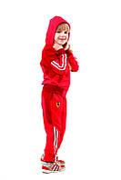 Детский спортивный костюм на девочек двухнитка с элостаном