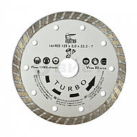 "Алмазний диск по бетону, каменю, ""TURBO"", 125 мм 22-806 SPITCE // Алмазный диск по бетону, камню ""TURBO"""