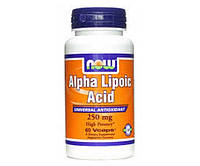Жиросжигатель NOW Foods Alpha Lipoic Acid 250 mg 60 капсул