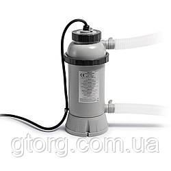 Электрический нагреватель для бассейнов Intex 28684 . Работает от насоса от 1893 до 9464 л/ч