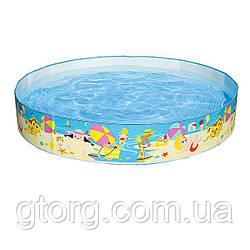 Басейн дитячий надувний Intex 56451 «Пляж на мілководді», 152 х 25 см