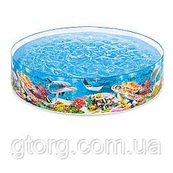 Басейн дитячий надувний Intex 58472 «Океанський риф», 244 х 46 см