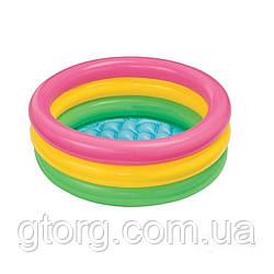 Дитячий надувний басейн Intex 58924 «Веселка», 86 х 25 см