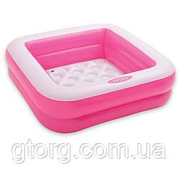 Дитячий надувний басейн Intex 57100, рожевий, 85 х 85 х 23 см