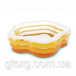 Дитячий надувний басейн Intex 56495 «Морська зірка», 183 х 180 х 53 см, жовтий