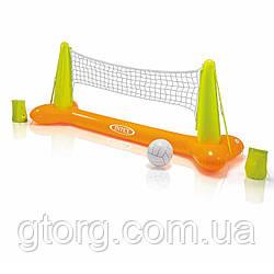 Надувний для гри на воді Intex 56508 «Волейбол», помаранчевий, 239 х 91 х 64 см