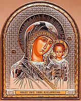 Икона Богородица Казанская серебряная Silver Axion (Греция) 85 х 105 мм