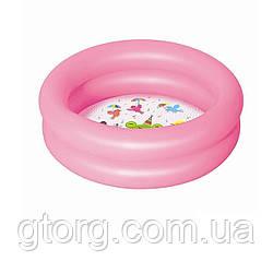 Дитячий надувний басейн Bestway 51061, рожевий, 61 х 15 см