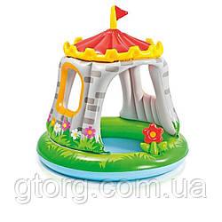 Дитячий надувний басейн Intex 57122 «Королівський Замок», 122 122 х см