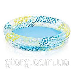 Дитячий надувний басейн Intex 59421 «Зірочки», блакитний, 122 х 25 см