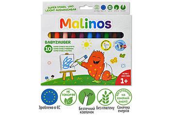 Фломастеры детские смываемые для малышей MALINOS Babyzauber 10 шт MR