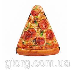 Пляжний надувний матрац Intex 58752 «Піца», серія «Фастфуд»,175 х 145 см