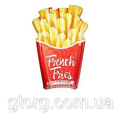 Пляжний надувний матрац Intex 58775 «Картопля фрі», серія «Фастфуд» 175 х 132 см