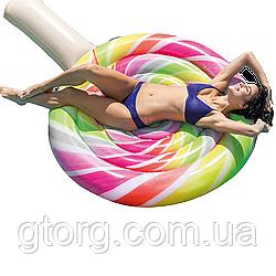 Пляжний надувний матрац Intex 58753 «Льодяник», серія «Десерт», 208 х 135 см