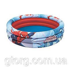 Дитячий надувний басейн Bestway 98018 «Спайдер Мен, Людина-Павук», 122 х 30 см