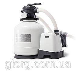 Пісочний насос з хлоргенератором Intex 26676-1, 6 000 л/год хлор 7 м/год, 35 кг