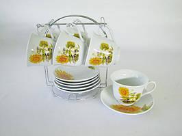 Чайный сервиз на стойке 12 предм 5705 Подсолнух