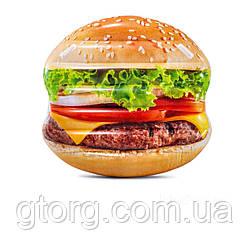Пляжний надувний матрац Intex 58780 «Гамбургер», серія «Фастфуд», 145 х 142 см
