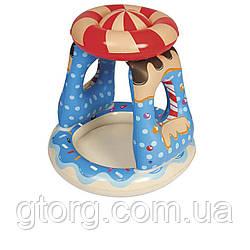 Дитячий надувний басейн Bestway 52270 «Цукерочка» 91 х 91 х 89 см, з навісом