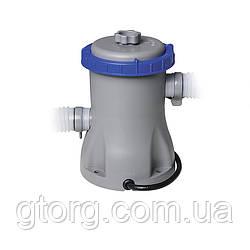 Картріджний фільтр насос Bestway 58381, 1 250 л/год, тип I
