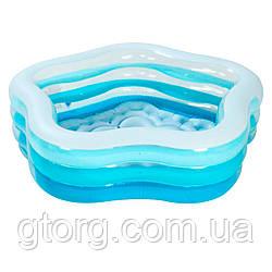 Уцінка! Дитячий надувний басейн Intex 56495 (Stock) «Морська зірка», 183 х 180 х 53 см, блакитний