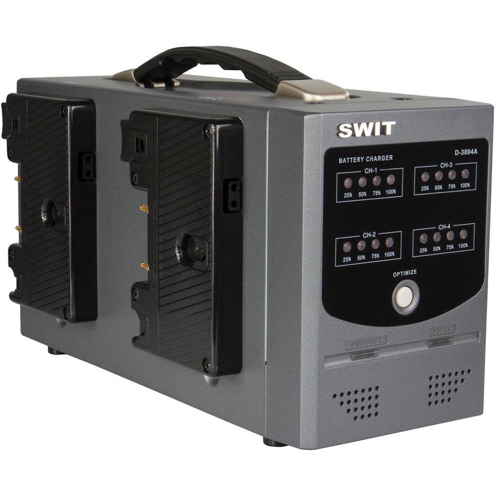 Зарядний пристрій SWIT D-3004A Gold Mount Charger for Gold Mount Batteries (4-Channel) (D-3004A)