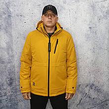 Парку чоловіча зимова. Коротка чоловіча куртка. Жовта куртка.