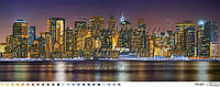 """Схема для вышивки бисером (городской пейзаж) """"Город, который никогда не спит"""" (цветное изображение)"""