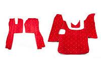 Коврики в салон Scania G420 красные (08-11) из материала