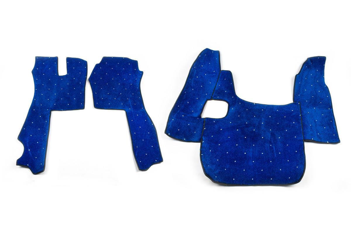 Коврики в салон Scania G420 синие (08-11) из материала