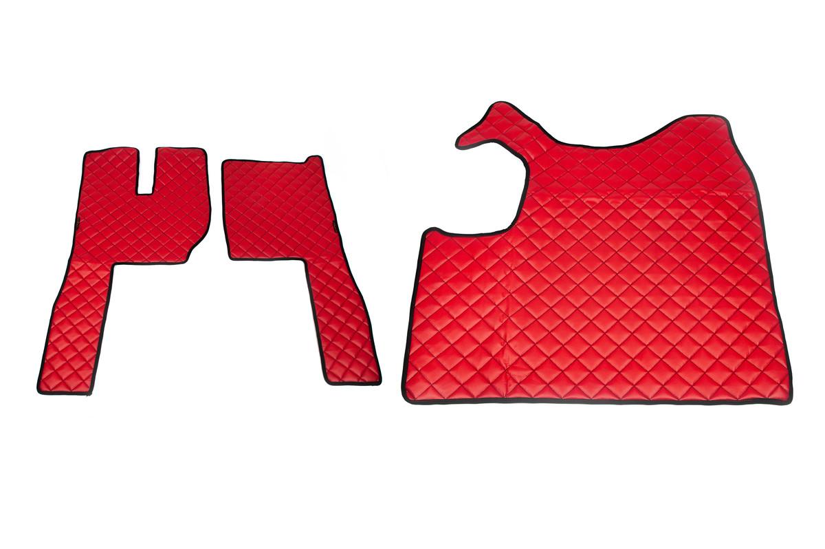 Коврики в салон Volvo FH (2013-...) красные из 3-х частей (механика)