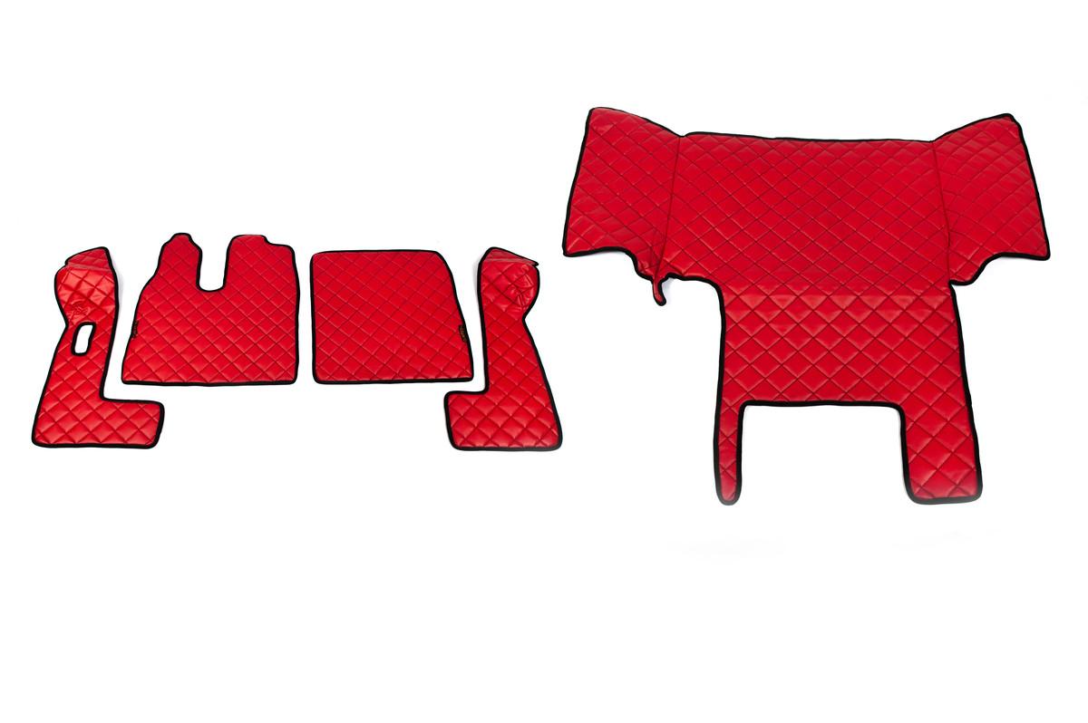 Килимки в салон Man Tga червоні з 5-ти частин (механіка)