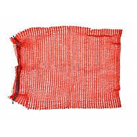 Сітка-мішок для пакування цибулі з зав'язкою, червона, 40х60см, до 20 кг 69-220  // Сетка-мешок для упаковки овощей с завязкой