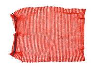 Сітка-мішок для пакування цибулі з зав'язкою, червона, 45х75см, до 30 кг 69-226  // Сетка-мешок для упаковки овощей с завязкой