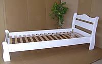 """Белая односпальная кровать из массива дерева """"Грета Вульф"""""""