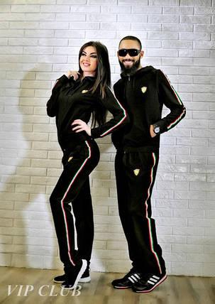Мужской спортивный костюм ferrari с боковыми полосками, фото 2