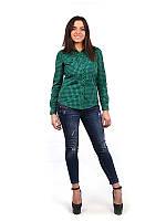 Женская рубашка зеленая