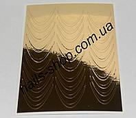 Металлизированная наклейка №2 золото (30 шт) для длинных ногтей  , фото 1
