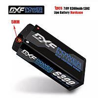 Аккумулятор DXF Lipo 2S Short 7,6 В 6300 мАч 130C 260C 5 мм