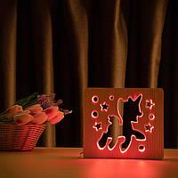 """Світильник нічник ArtEco Light з дерева LED """"Поні-єдиноріг"""" з пультом і регулюванням кольори, RGB, фото 1"""
