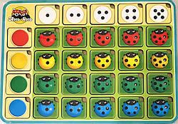 Дерев'яний Сортер сонечка, гра Асоціації колір рахунок напрямок, Ань-Янь (ПСФ063)