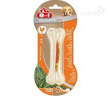 Кость для собак прочная с куриным мясом Delights 8in1 Strong, 11 см